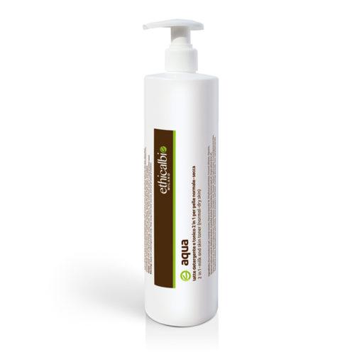 Aqua 20000 Latte detergente e Tonico due in uno Aqua per pelle secca e disidratata 500 ml ethicalbio cosmetici naturali